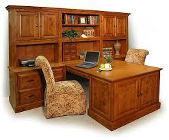 Overstock Office Desk Dual Desks For Home Office Double Peninsula Desk Stone Creek