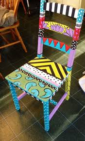 bench funky painted furniture wonderful hand painted bench