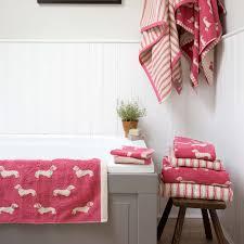 Jacquard Bath Rug Dachshund Jacquard Bath Mat Pink Emily Bond Bath Mat And Bath