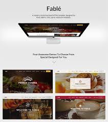 fable restaurant bakery cafe pub wordpress theme by ovatheme