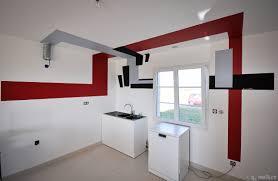 cuisine noir et rouge cuisine rouge gris noir à nouvion dans la baie de somme 80