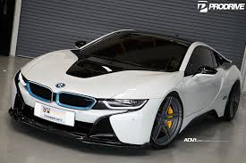 Bmw I8 Modified - crystal pearl white bmw i8 adv05 m v2 cs series concave wheels