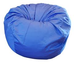 Big Bean Bag Chair by Amazon Com Ahh Products Blue Organic Cotton Large Bean Bag Chair