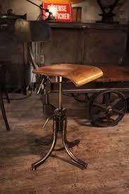 Chaise Industrielle Métal Noir Antique Déco Industrielle Fauteuil Chaise Ancienne En Metal Brut Deco Loft Home Spaces