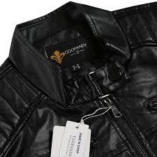 biker jacket coofandy men u0027s classic leather motorcycle jacket winter biker
