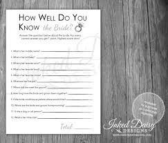 instant download how well do you know the bride quiz bridal