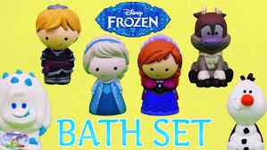 disney frozen bath set disney store vinyl toys elsa anna olaf