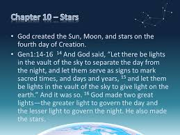 what day did god create light chapter 10 stars god created the sun moon and stars on the