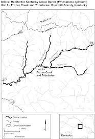 Map Of Kentucky Counties Federal Register Endangered And Threatened Wildlife And Plants