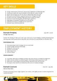 Job Resume Key Skills by Mining Underground Electrician Cover Letter