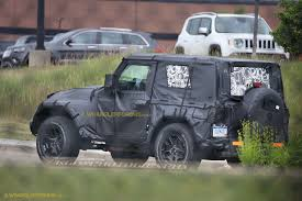 2018 jeep wrangler 2018 jeep wrangler jl 2 door spied zf 8 speed auto and other