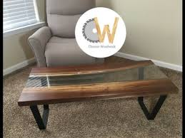 live edge river table epoxy how to build a live edge river table with glass youtube