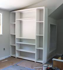pregnant with power tools built in bookcase building