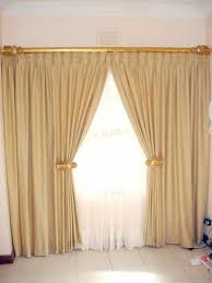 Curtain Hanging Ideas Ideas Interesting Classic Simple Fabric Curtain Design Ideas With White