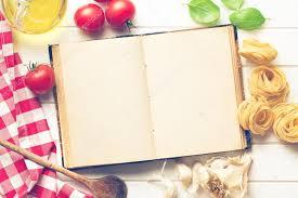 livre de cuisine vierge livre de recette vierge et ingrédients frais photographie jirkaejc