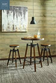 Oak Bar Table Hornell 182035 Living Coaster Weathered Oak Bar