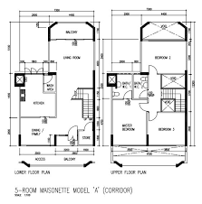 maisonette floor plan 5a corridor maisonette hdb floor plan designs renotalk com
