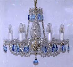 Colored Chandelier Blue Chandelier Blue Almonds Www Lustry Svitidla Eu
