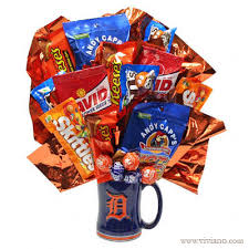 Baseball Gift Basket Go Tigers Snacks Flowers Plants Gift Baskets From Viviano