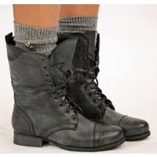 womens combat boots uk womens style army combat lace up ankle worke