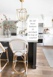 what size should a kitchen be to an island height spacing of pendant lights a kitchen island my