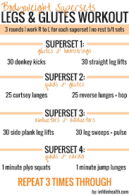 supersets legs glutes workout