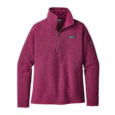 purple sweater patagonia s better sweater quarter zip fleece