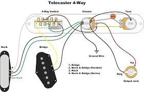 telecaster 4 way switch wiring diagram wiring diagram and