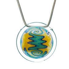 glass necklace pendants images Hand blown glass pendants tree huggers co op la crosse wi jpg
