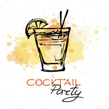 hand drawn cocktail party poster u2014 stock vector o ta 85189434