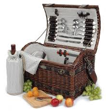 picnic basket for 4 beyond couture collection 4 person willow picnic basket