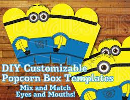 Minion Birthday Decorations Printable Minion Birthday Decoration Minion Party Favor Box