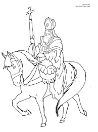 saint coloring pages saint patrick driving out the snakes of