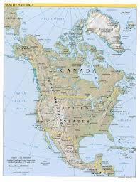 Printable North America Map by North America Map