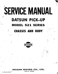 datsun 521 pick up service manual
