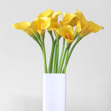 Calla Lily Vase Life Luxury Artificial Yellow Calla Lily Amaranthine Blooms
