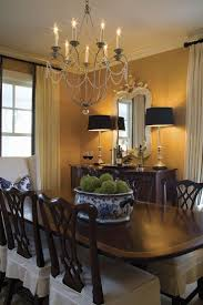 Traditional Dining Room Designs Textured Wallpaper Black Accents A - Traditional chandeliers dining room