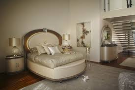 glamour 4 piece queen bedroom set in ivory pearl upholstery