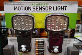 wireless motion lights outdoor costco clearance capstone led wireless motion sensor light 2 pack