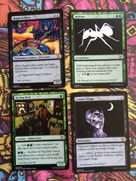 Mtg Card Design Pictureplane Turned His Friends And Idols Into U0027magic The