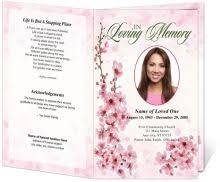 funeral programs online our online funeral program template software allows you to easily