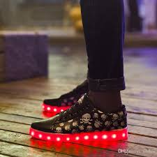 light up shoes size 12 big size 11 12 13 women men couples led shoes glowing flats for