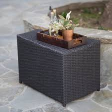 Wicker Accent Table Resin Wicker U0026 End Tables Patio Accent Tables On Hayneedle Resin