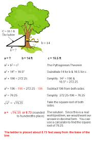 pythagorean word problems worksheet worksheets