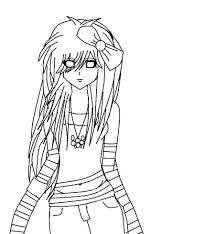 printable emo coloring pages coloring