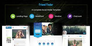 free profile finder friend finder a social network html5 template themelock
