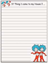 printable lined writing paper best photos of cat writing paper template cat in the hat dr seuss writing paper template