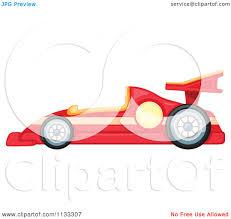 cartoon race car cartoon of a red race car royalty free vector clipart by
