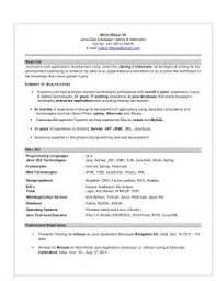 sample resume j2ee developer resume ixiplay free resume samples