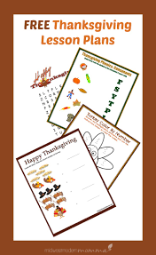 free lesson plan for thanksgiving day 1